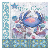 Blue Crab Tile Poster by Anne Ormsby