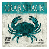 Crab Teal Prints by Jace Grey