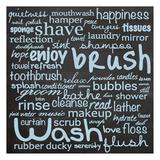 Bathroom Words B1 Prints by Lauren Gibbons