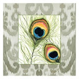 Peacock Tile 3 Posters by Anne Ormsby