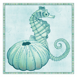 Seaside Seahorse Posters by Nicole Tamarin