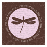 Dragonfly Brown Poster by Lauren Gibbons