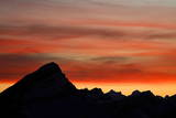 The Sun Sets over the Glarus Alps Near Valbella in Central Switzerland Photographic Print by Alessandro Della Bella