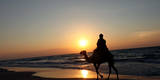 Sunset in Gaza Strip Photographic Print by Mohammed Saber