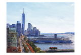 Freedom Tower Hudson View 1 Print by Sandro De Carvalho
