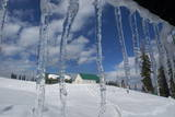 Icicles Hang from a Roof at Gulmarg Photographic Print by Farooq Khan