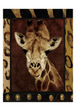 Giraffe Bordered Posters by Jace Grey