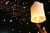 Floating Lanterns to Mark the Fifth Anniversary of the 2004 Tsunami Disaster Photographic Print by Rungroj Yongrit
