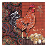 Sussex Rooster Tile Prints by Anne Ormsby