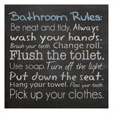 Reglas del baño, en inglés Láminas por Lauren Gibbons
