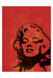 Marilyn Red Print by Lauren Gibbons