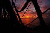 Sunset Seen from Aboard Sailing Ship Photographic Print by Maurizio Gambarini