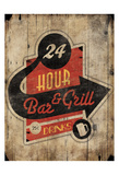 Bar Grill Posters by Jace Grey
