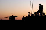 Israeli Infantry Soldiers on Top of an Armoured Personnel Carrier Photographic Print by Jim Hollander
