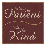 Love is Patient Reprodukcje autor Lauren Gibbons