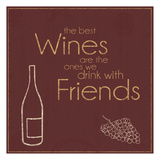 Wine with Friends Posters by Lauren Gibbons
