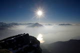 View from the Niederhorn Mountain Near Beatenberg on the Lake of Thun Photographic Print by Alessandro Della Bella