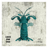 Lobster No Band Teal Prints by Jace Grey