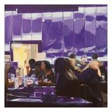 Purple Cyber Café Posters af Katrina Swanson