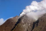 White Smoke Rises from the Peak of Sinabung Volcano, Sumatra Island, Indonesia Photographic Print by Hotli Simanjuntak