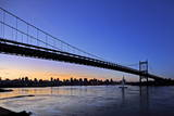The Robert F. Kennedy Bridge Is Seen at Sunset from Astoria Queens in New York USA Photographic Print by Peter Foley