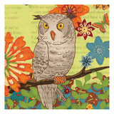 Floral Owl Flight Prints by Margaret Reule