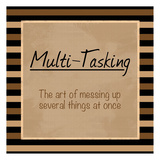Multi Tasking Print by Lauren Gibbons