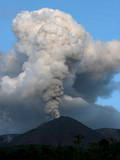 Smoke Rises from the Reventador Volcano as the Volcano Increased Activity Photographic Print by Jose Jacome