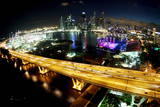 Singapore Skyline at Night Photographic Print by How Hwee Young