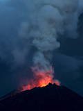 View of the Reventador Volcano Where Lava Erupts as the Volcano Increased Activity Photographic Print by Jose Jacome