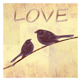 Bird Vine Love Posters by Lorraine Rossi