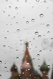 Rain Drops Gathered on a Car's Glass Window During a Rain Shower in Moscow Photographic Print by Sergei Ilnitsky