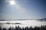 View over the Sea of Fog in the Swiss Alps Photographic Print by Ennio Leanza