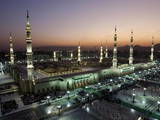 General View of Prophet Mohammed Mosque at Al-Madina Al-Monawara City Photographic Print by Jamal Nasrallah