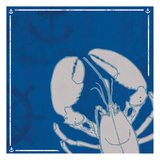 Blue Sea Lobster Print by Lauren Gibbons