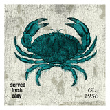 Crab No Band Teal Print by Jace Grey