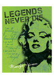 Legends Never Die - Green Prints by Lauren Gibbons