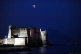 Red Moon Rises over the Castel Dell Ovo (Egg Castle) in Naples, Italy Photographic Print by Ciro Fusco