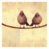 Bird Vine Square 2 Prints by Lorraine Rossi