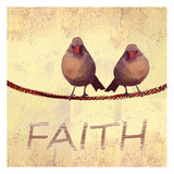 Bird Vine Faith Print by Lorraine Rossi