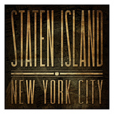 Staten Island Print Posters by Jace Grey