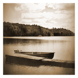 Boat Dock Sepia Print by Suzanne Foschino