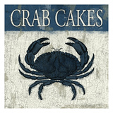 Crab cakes blue Prints by Jace Grey