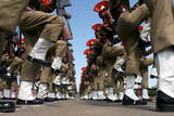 New Recruits of the Indian Border Security Force (Bsf) Parade in Srinagar Photographic Print by Altaf Qadri