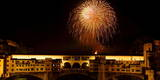 The Traditional Fireworks in the Sky over Ancient Ponte Vecchio (Old Bridge) Photographic Print by Carlo Ferraro