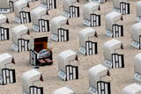 Beach Chairs are Abandoned at the Beach of Sellin on Ruegen Island, Germany Photographic Print by Stefan Sauer