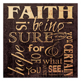 Carole Stevens - Faith Hebrews - Poster