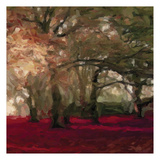 Crimson Forest Floor B Print by Taylor Greene