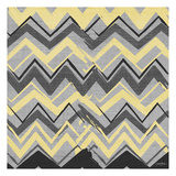 Yel Gray Stripes 2 Poster by Diane Stimson
