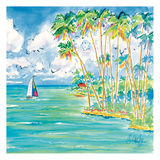 Troplical Sail Square Prints by Anne Ormsby
